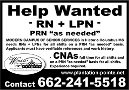 Nursing Career Opportunities at Plantation Pointe Retirement Community in Historic Columbus, Mississippi